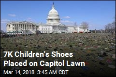 7K Children's Shoes Form Haunting Memorial to Victims of Gun Violence
