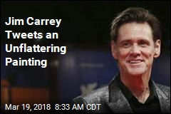 Jim Carrey Tweets an Unflattering Painting