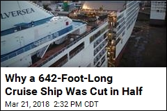 Cruise Ship Cut in Half So It Can Be Made Longer