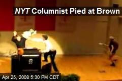 NYT Columnist Pied at Brown
