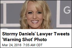 Stormy Daniels' Lawyer Tweets 'Warning Shot' Photo