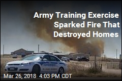Army's Live-Ammo Training Sparked Fire That Destroyed Homes
