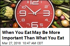 When You Eat May Be More Important Than What You Eat
