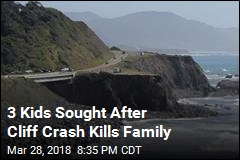 3 Kids Sought After Cliff Crash Kills Family