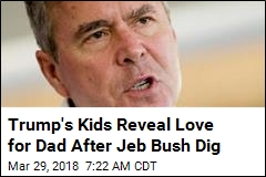 Jeb Makes Apparent Trump Jeer, Trump's Kids Push Back