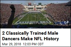NFL Welcomes First-Ever Male Cheerleaders