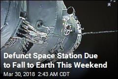 Falling Space Lab Due to Hit Earth This Weekend