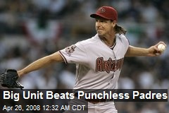 Big Unit Beats Punchless Padres