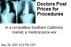 Doctors Post Prices for Procedures
