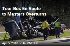 Tour Bus En Route to Masters Golf Tournament Overturns