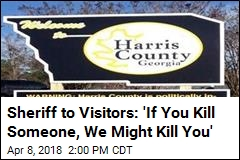 Sheriff's Sign: 'Our Citizens Have Concealed Weapons'
