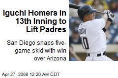 Iguchi Homers in 13th Inning to Lift Padres