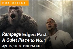 Rampage Pummels Past A Quiet Place t o Box Office No.1