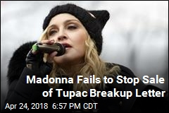 Madonna Fails to Stop Sale of Tupac Breakup Letter