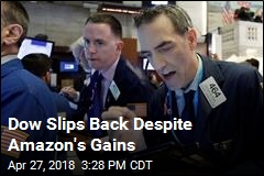 Dow Slips Back Despite Amazon's Gains