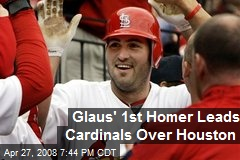 Glaus' 1st Homer Leads Cardinals Over Houston