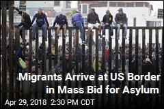 Hundreds Hope for Asylum at US-Mexico Border
