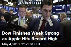 Dow Finishes Week Strong as Apple Hits Record High