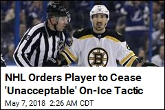 NHL Player Ordered to Stop Licking Opponents