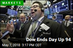 Dow Ends Day Up 94