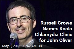 Russell Crowe Names Koala Chlamydia Clinic for John Oliver