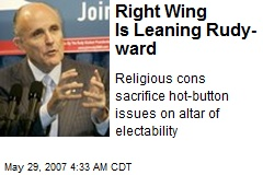 Right Wing Is Leaning Rudy-ward