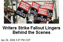 Writers Strike Fallout Lingers Behind the Scenes