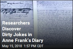 Researchers Discover Dirty Jokes in Anne Frank's Diary