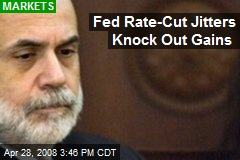 Fed Rate-Cut Jitters Knock Out Gains