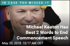 Michael Keaton Has Best 2 Words to End Commencement Speech