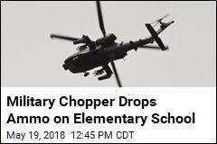 Chopper Makes Surprise Drop on Elementary School