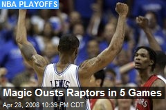 Magic Ousts Raptors in 5 Games