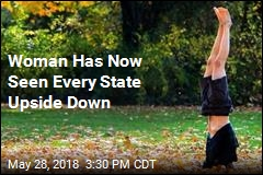 Woman Has Now Seen Every State Upside Down