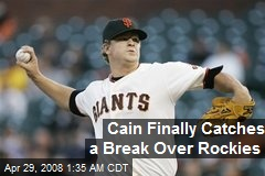 Cain Finally Catches a Break Over Rockies