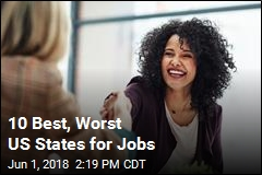 10 Best, Worst US States for Jobs