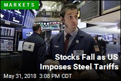 Stocks Fall as US Imposes Steel Tariffs