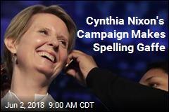 Cynthia Nixon's Campaign Makes Spelling Gaffe
