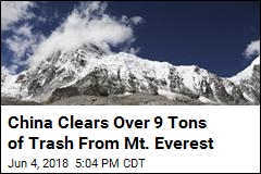China Clears Over 9 Tons of Trash From Mt. Everest