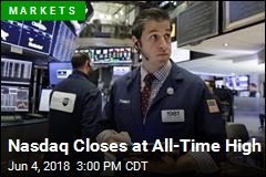 Nasdaq Closes at All-Time High