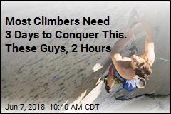 Record-Breaking Rock Climb Likened to Vertical Marathon