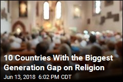 10 Countries With the Biggest Generation Gap on Religion