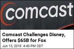Comcast Challenges Disney, Offers $65B for Fox