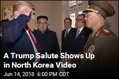 A Trump Salute Shows Up in North Korea Video
