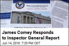 James Comey Responds to Inspector General Report