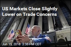 US Markets Close Slightly Lower on Trade Concerns