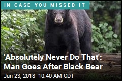 'Absolutely Never Do That': Man Goes After Black Bear