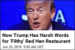 Trump Attacks 'Filthy' Eatery After Press Secretary Brouhaha