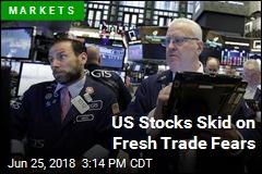 US Stocks Skid on Fresh Trade Fears