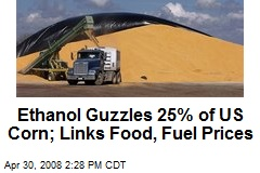 Ethanol Guzzles 25% of US Corn; Links Food, Fuel Prices