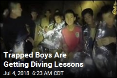 Trapped Boys Are Getting Diving Lessons